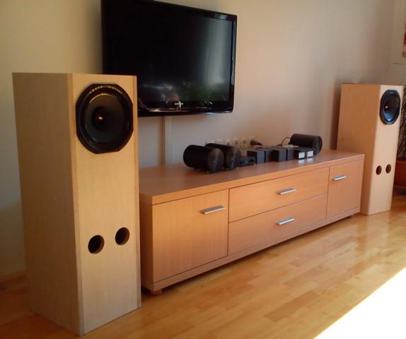 2.8 diy home theater full range speaker cabinets ...